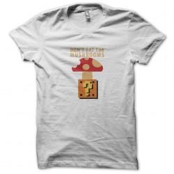 dangerous mushroom t-shirt mario bros white sublimation