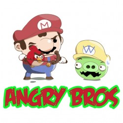t-shirt angry bros white sublimation