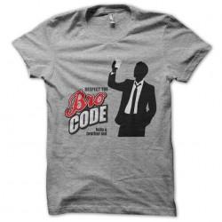 Barney stinson t-shirt respect the bro code gray sublimation