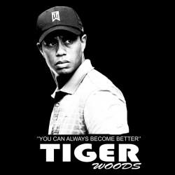 tee shirt Tiger Wood black sublimation