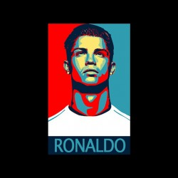 tee shirt Cristiano Ronaldo parody obama black sublimation