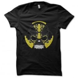 tee shirt Skull music headphone black sublimation