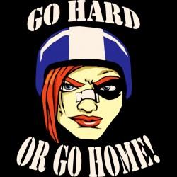tee shirt go hard gold go...