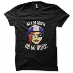 tee shirt go hard gold go home black sublimation