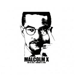 Malcom X white sublimation t-shirt