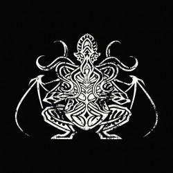 Cthulhu symbol grungy black sublimation tee shirt