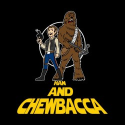 t-shirt Han and chewbacca black sublimation