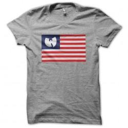 tee shirt Wu tang clan flag gray sublimation