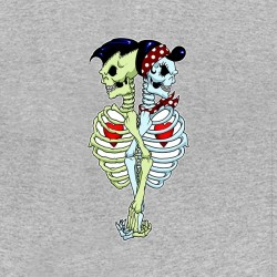tee shirt skulls in love...