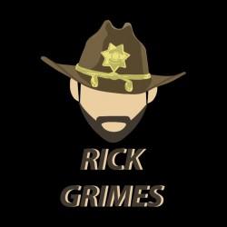 tee shirt rick grimes walking dead black sublimation