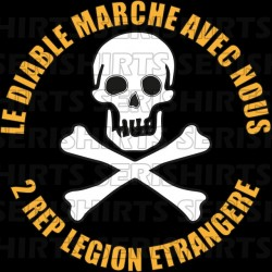 Foreign Legion T-Shirt the devil walks with us 2rep black sublimation