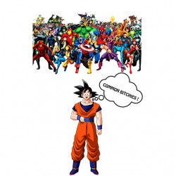 Sangoku t-shirt vs marvel...