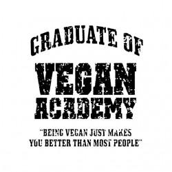 shirt vegan academy white sublimation
