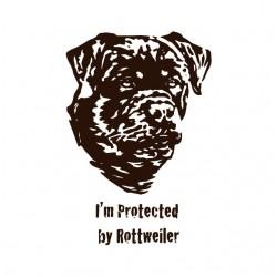 shirt my bodyguard the Rottweiler white sublimation