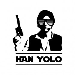 t-shirt Han yolo white sublimation