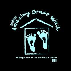 shirt Amazing Grace walk black sublimation