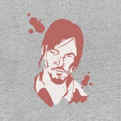 tee shirt daryl dixon The Walking Dead gris sublimation
