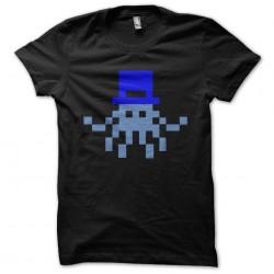 t-shirt octopus 8 bit black...