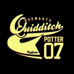 tee shirts Hogwarts Quidditch potter 07 black sublimation